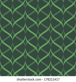 background, seamless pattern with green elements, geometric design, vector illustration