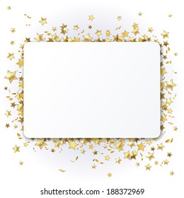 background with shiny gold stars