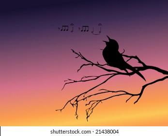 Imágenes, fotos de stock y vectores sobre Birds Singing