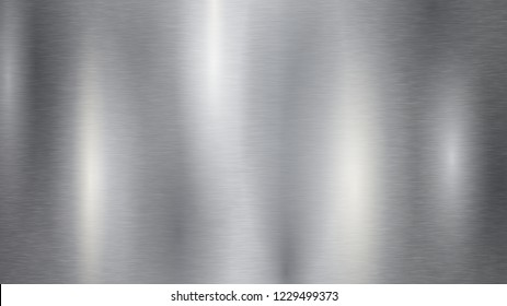 Background with silver metal texture