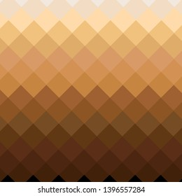 a background of smooth diamond shape transition from dark to light skin color