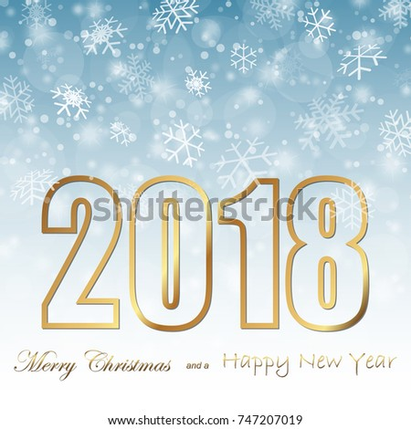 Background Snow Fall Greetings Christmas New Stock Vector (Royalty ...