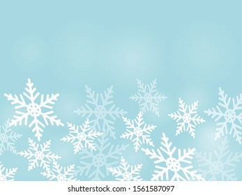 Hintergrund mit Schneeflocken. Vektorgrafik