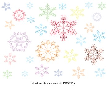 Background with snowflakes,vector.