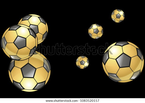 Background Soccer Balls Colorful Sportish Wallpaper Stock Vector Royalty Free 1083520157