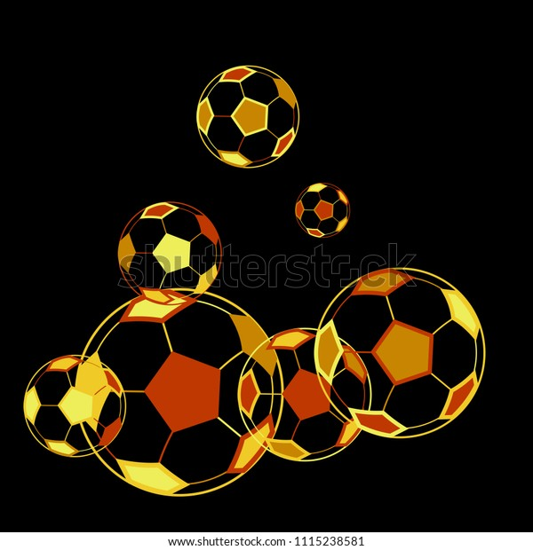 Background Soccer Balls Colorful Sportish Wallpaper Stock Vector Royalty Free 1115238581