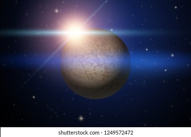 Background of Space with unknown planet. Science Matters Astronomy. Abstract scientific background. Editable Vector Illustration.