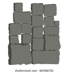 Background Stone Wall , Rocks and stones, Vector illustration
