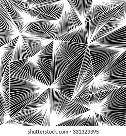 Background striped triangles. Vector