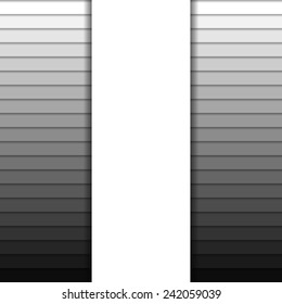 Background with stripes in greyscale colors and one big vertical white stripe