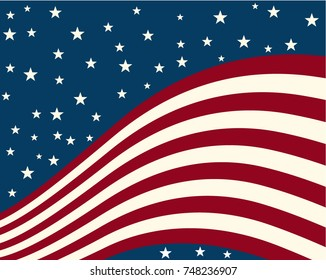 background stylized flag united states vector