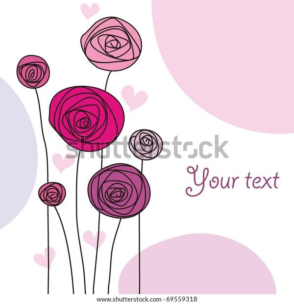 Image Vectorielle De Stock De Arrière Plan Avec Fleurs