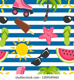 Background with summer elements