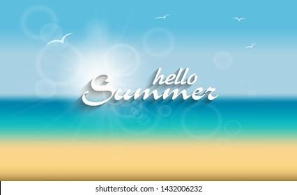 Background for summer vacation.Summer beach background.