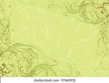 Background swirl floral corner