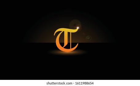 Background T Initial 3D.  The initials T vector.  Initials T for design logos