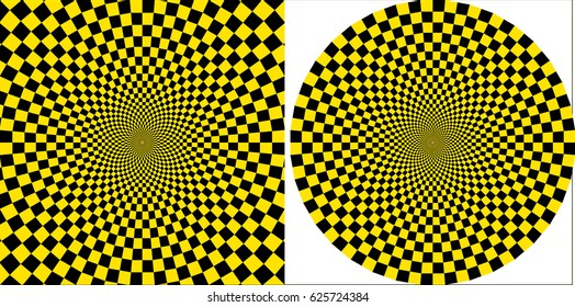 background taxi yellow black square circular design, vector pop art style of circular and square background