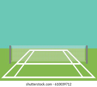 Background of tennis court.
