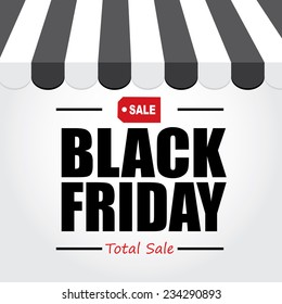 Background text Black Friday. Sale Poster design Typography
