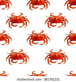 Background texture art, abstract pattern, crab vector, textile design