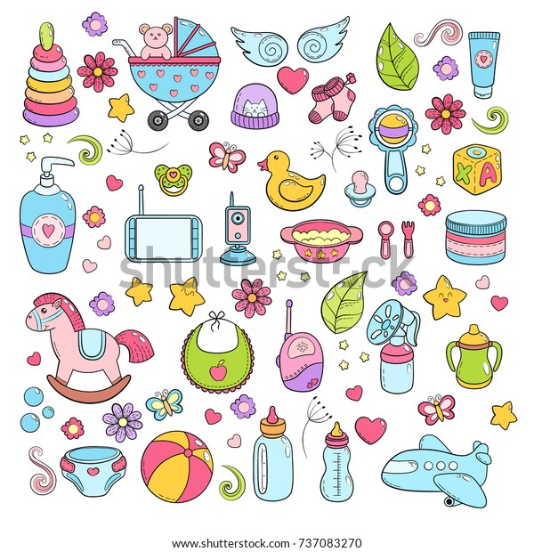 Background Texture Backdrop Pattern Wallpaper Children Stock Vector Royalty Free 737083270