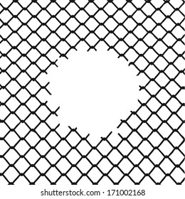 Background texture the cage. Vector