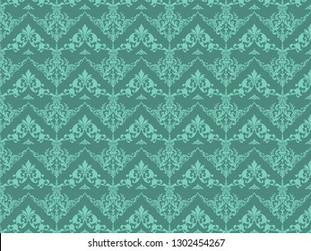 Background texture floral ornate. Delicate marine color