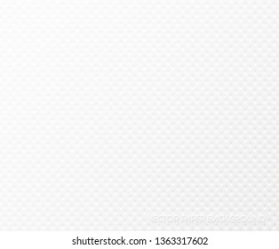 Background of textured white paper napkin. Texture embossed square shape. Tissue paper web page fill pattern