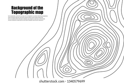 Background of the topographic map