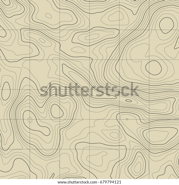 Background Topographic Map Topographic Map Lines Stock
