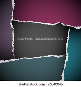 Background of torn paper.Vector eps10