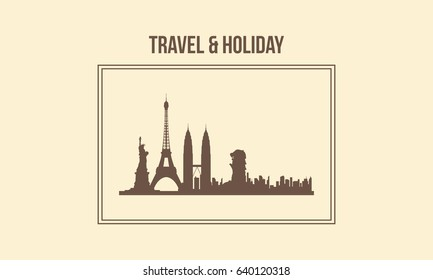 Background traveling style design collection