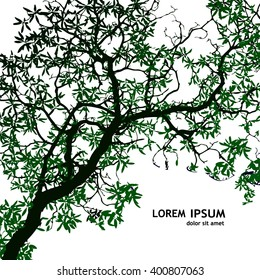 Background tree branches. Vector