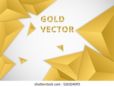 Background triangle elements style gold color.