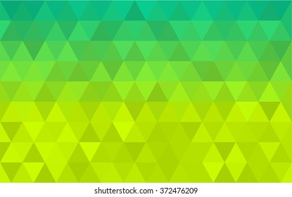 Background triangle pattern lime color to green neon color