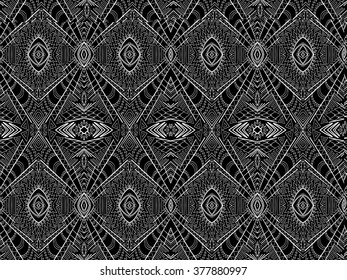 Background tribal abstract. Simple ornament. Black and white ethnic maya style. Vector texture can be used for web design, textile, printed products and other.