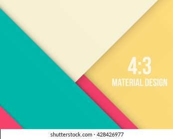 Background Unusual modern material design. Retro style. Format 4:3. Abstract Vector Illustration.