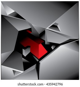 Background Unusual modern material design. Square and triangle form. Abstract Illustration
