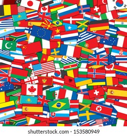 Background from Various World Flags . EPS10 Vector Design Template