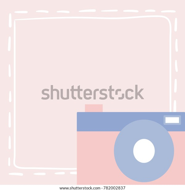 photo about Camera Template Printable titled Historical past Vector Cameraillustration Reduced Objectpastel