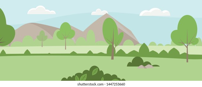 The background vector for countryside.