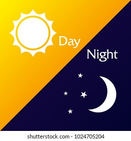 Background with vector day night theme.
