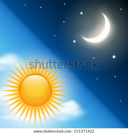 background vector day night theme stock vector royalty free