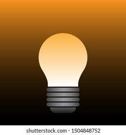 background vector with a light bulb with a mixture of dark and light colors.