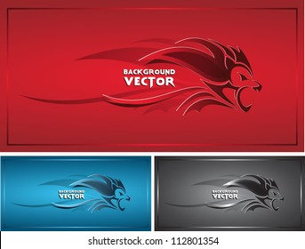 background vector with lion
