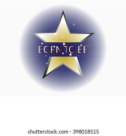 background vector with star and born to be word