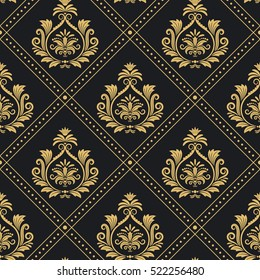 Background victorian regal pattern seamless baroque. Backdrop decoration vector illustration