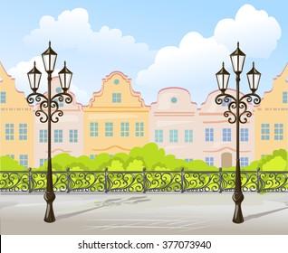 background vintage city. vector illustration