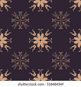 Background vintage flower. Seamless floral pattern. Fabric illustration.