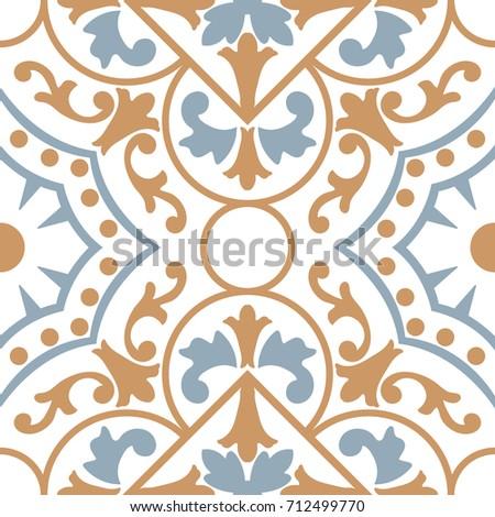 de69080f9d41 Vetor stock de Background Vintage Flower Seamless Floral Pattern ...